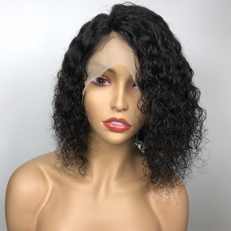 MIA Curly Bob Wigs 100% Virgin Hair Short Bob Lace Front Wig Wet Curly Full Lace Wig