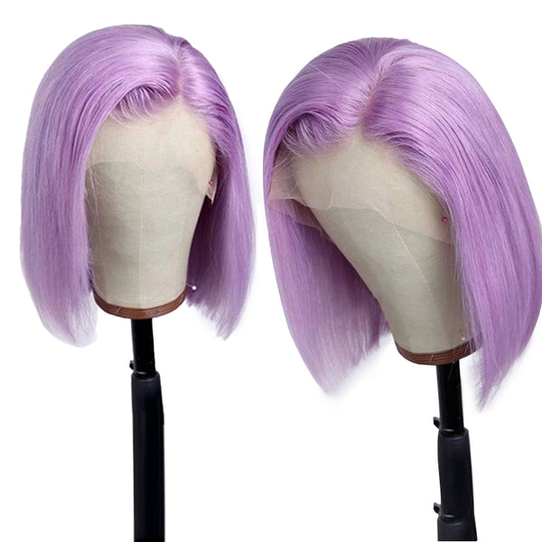 Lavender Vibe Bob Lace Front Wig Full Lace Wig Human Hair Wigs