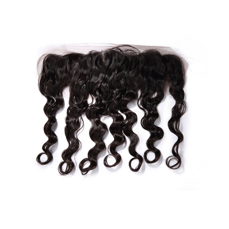 13×4 Lace Frontal Deep Wave 100% Human Hair