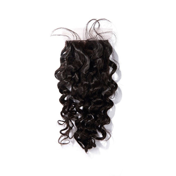 Silk Base Closure Curly Hair 100% Human Hair Extensions Free Shipping