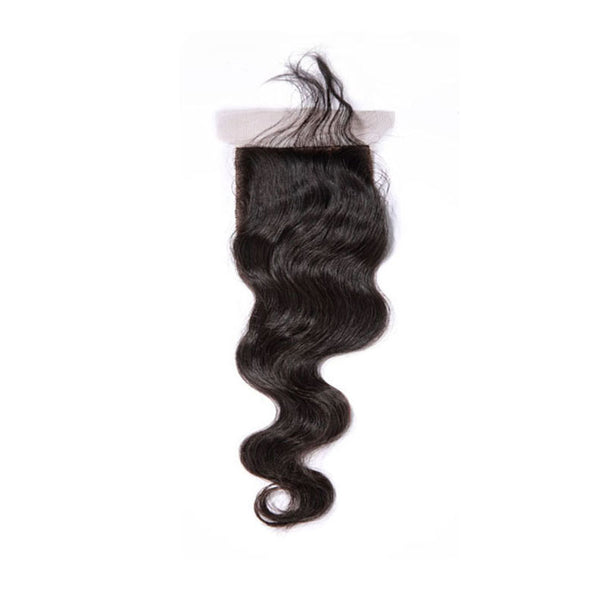 Silk Base Closure Body Wave 100% Human Hair Extensions Free Shipping