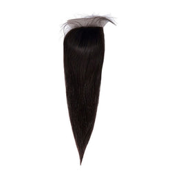 Silk Base Closure Straight Hair 100% Human Hair Extensions Free Shipping