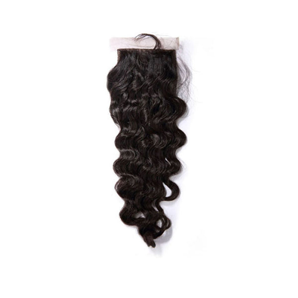 Silk Base Closure Loose Wave 100% Human Hair Extensions Free Shipping