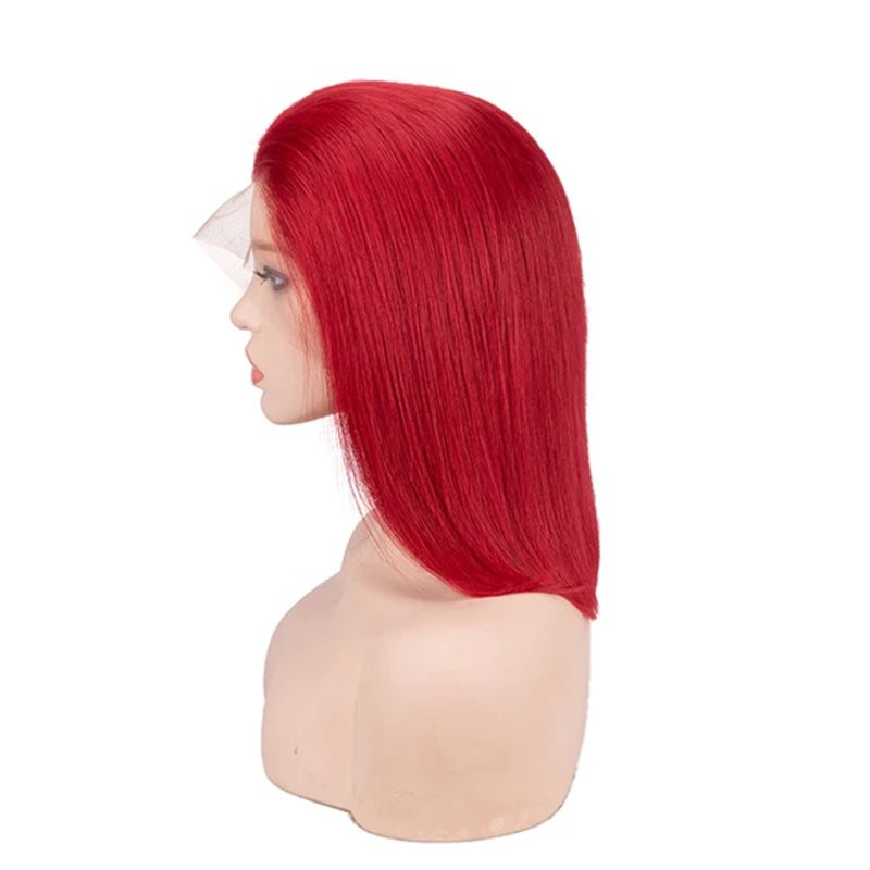 Red Bob Wigs Lace Front Wig Full Lace Wig 100% Human Hair Wig