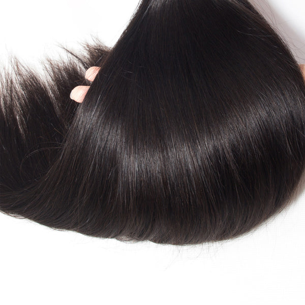 "38"" 4 Bundles With a 4x4 Lace Closure Straight Hair Virgin Hair Extensions"