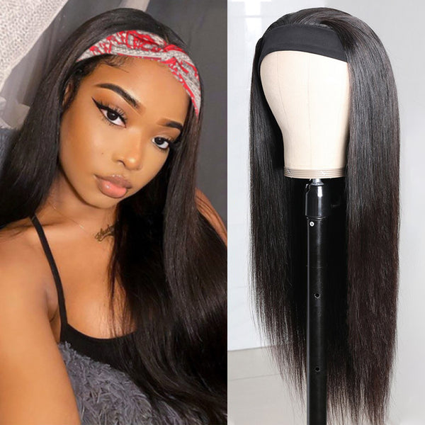 BIANCA Straight Hair Headband Wig *No Lace No Glue* Beginner Friendly & Convenient