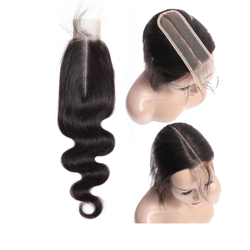 3 Bundles With a 6×2 Lace Closure Body Wave Virgin Hair Extensions