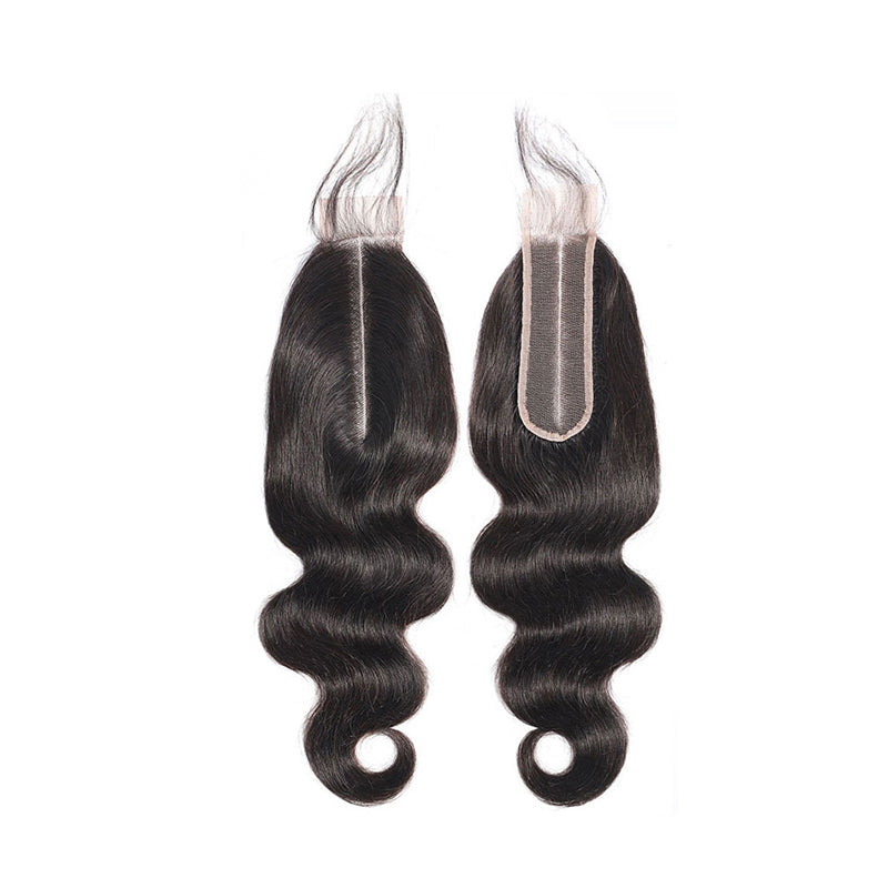 6×2 Lace Closure Body Wave Deep Middle Part 100% Virgin Hair Extensions Free Shipping