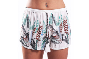 Bindi Shorts/White Feather