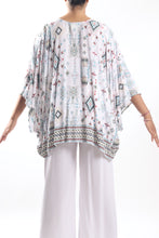 Load image into Gallery viewer, Boho Cape 3/Aqua Aztec