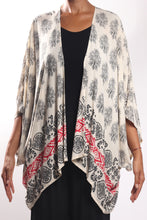 Load image into Gallery viewer, Boho Cape 3/Cream Paisley-Border