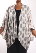 Load image into Gallery viewer, Boho Cape 3/Cream Paisley-No Border