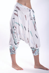 Boho Pants/White Feather