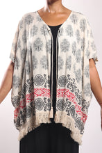 Load image into Gallery viewer, Cape Tassel/Cream Paisley - Border