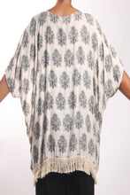 Load image into Gallery viewer, Cape Tassel/Cream Paisley - No Border
