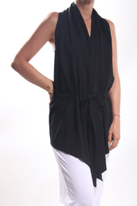 Flow Vest Short/Rayon Lycra Black