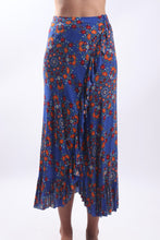 Load image into Gallery viewer, Flamenco Skirt/Retro Floral Blue
