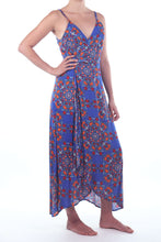 Load image into Gallery viewer, Flamenco Dress/Retro Floral Blue