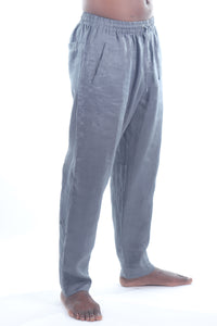 Piha Long Pants/Linen 100% Coal
