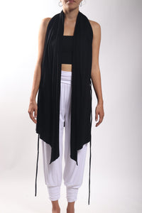 Flow Vest Long/Bamboo Spandex Black