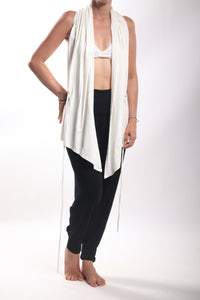 Flow Vest Short/Bamboo Spandex Natural