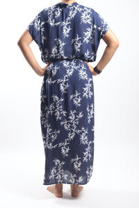 Island Dress Long/Navy Bamboo