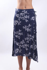 Jap Skirt/Navy Bamboo