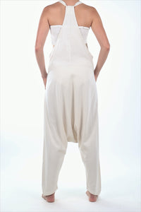 Jay Jumpsuit/Natural Linen Rayon