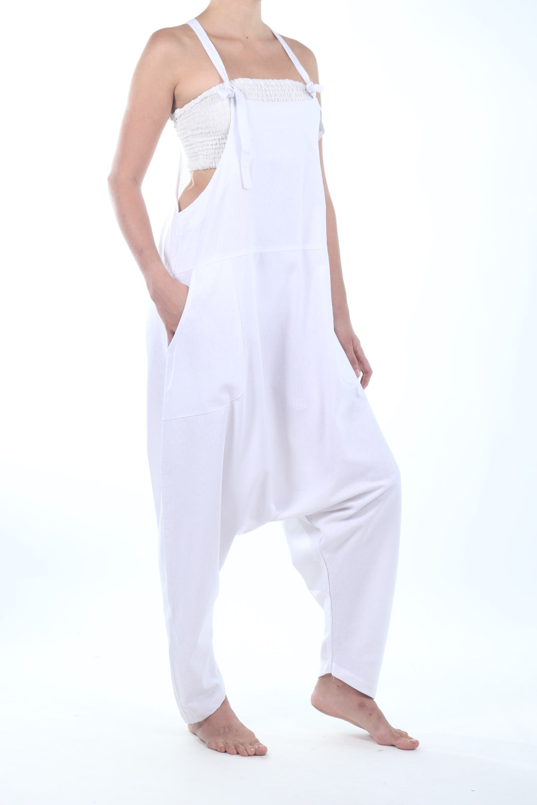 Jay Jumpsuit/White Linen Cotton