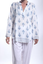 Load image into Gallery viewer, Lily Shirt/India Paisley Grey