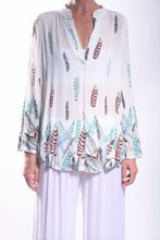 Load image into Gallery viewer, Lily Shirt/White Feather