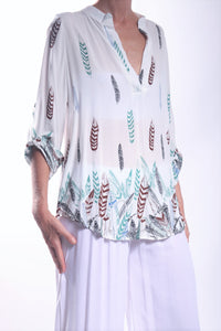 Lily Shirt/White Feather