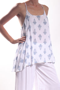Nessy Top/India Paisley Grey
