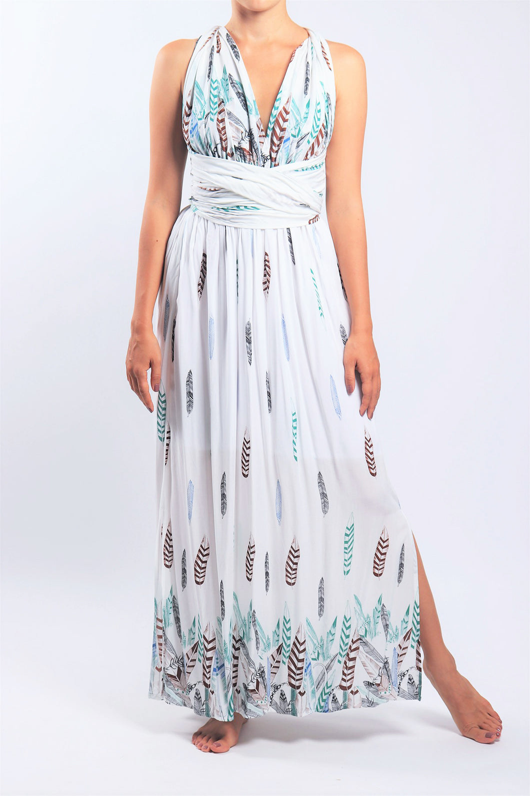 Venus Dress/White Feather