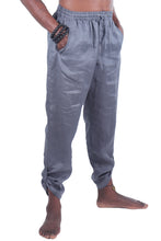 Load image into Gallery viewer, Piha Long Pants/Linen 100% Coal