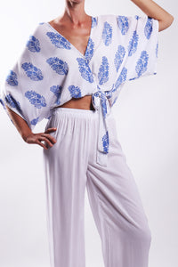 Jap Top/Blue Paisley