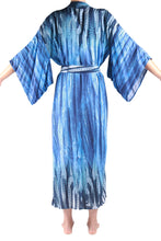 Load image into Gallery viewer, Jap Kimono Long/Blue Feather