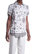 Load image into Gallery viewer, Manu Sh-sl Shirt/Earth Aztec