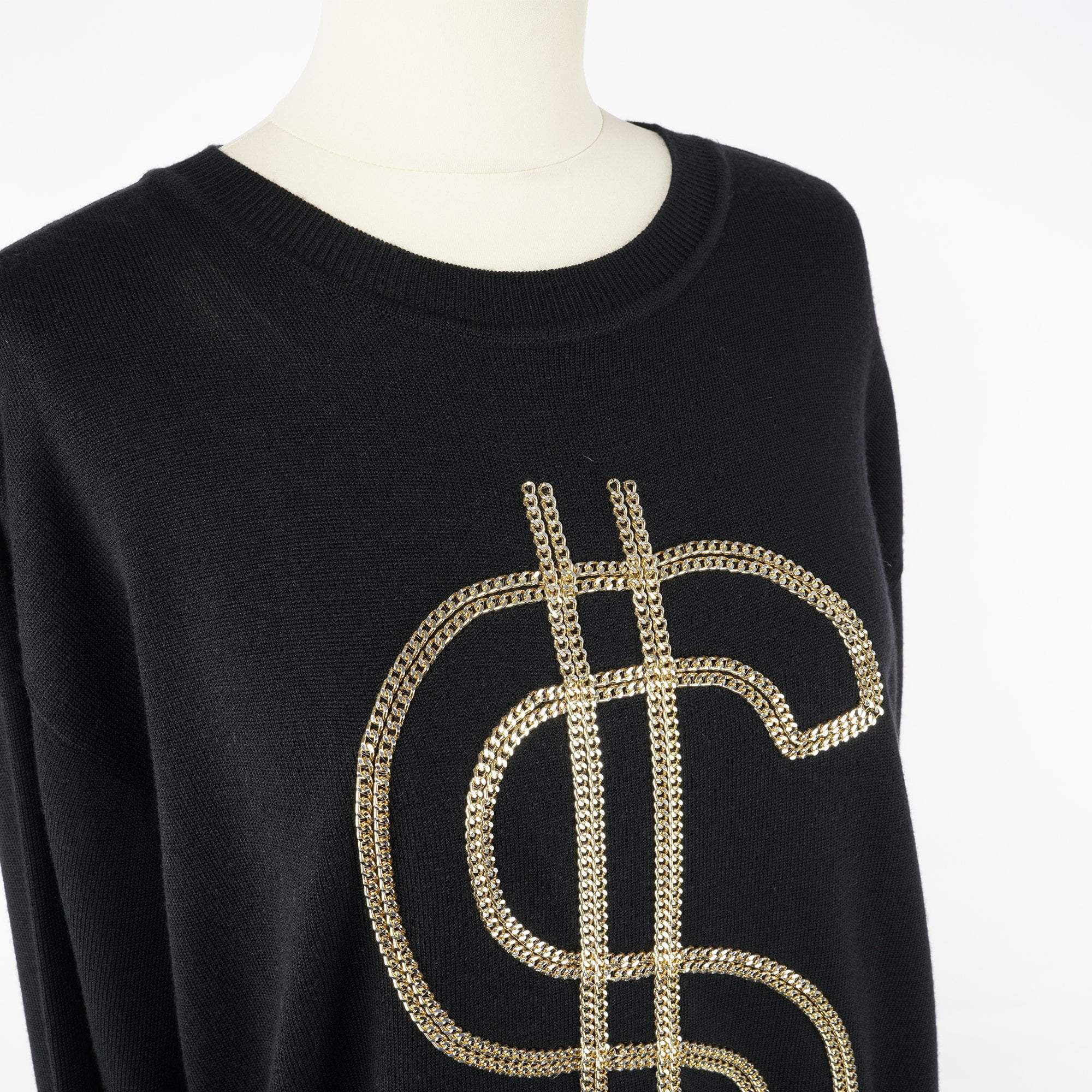 Moschino Dollar Sign Sweater