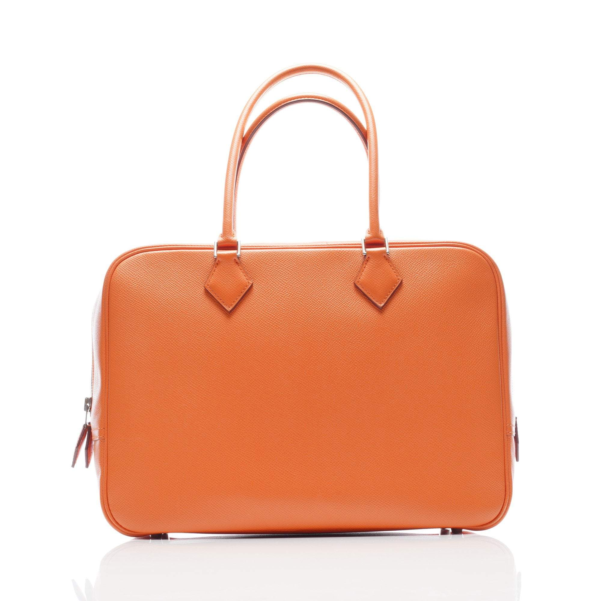 Hermes Orange Travel Victoria Bag