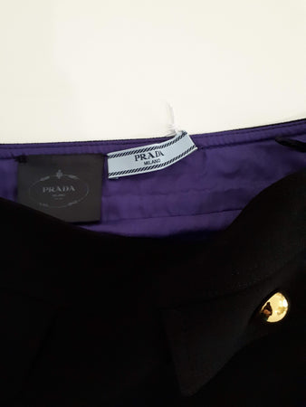 Prada Skirt With Gold Button