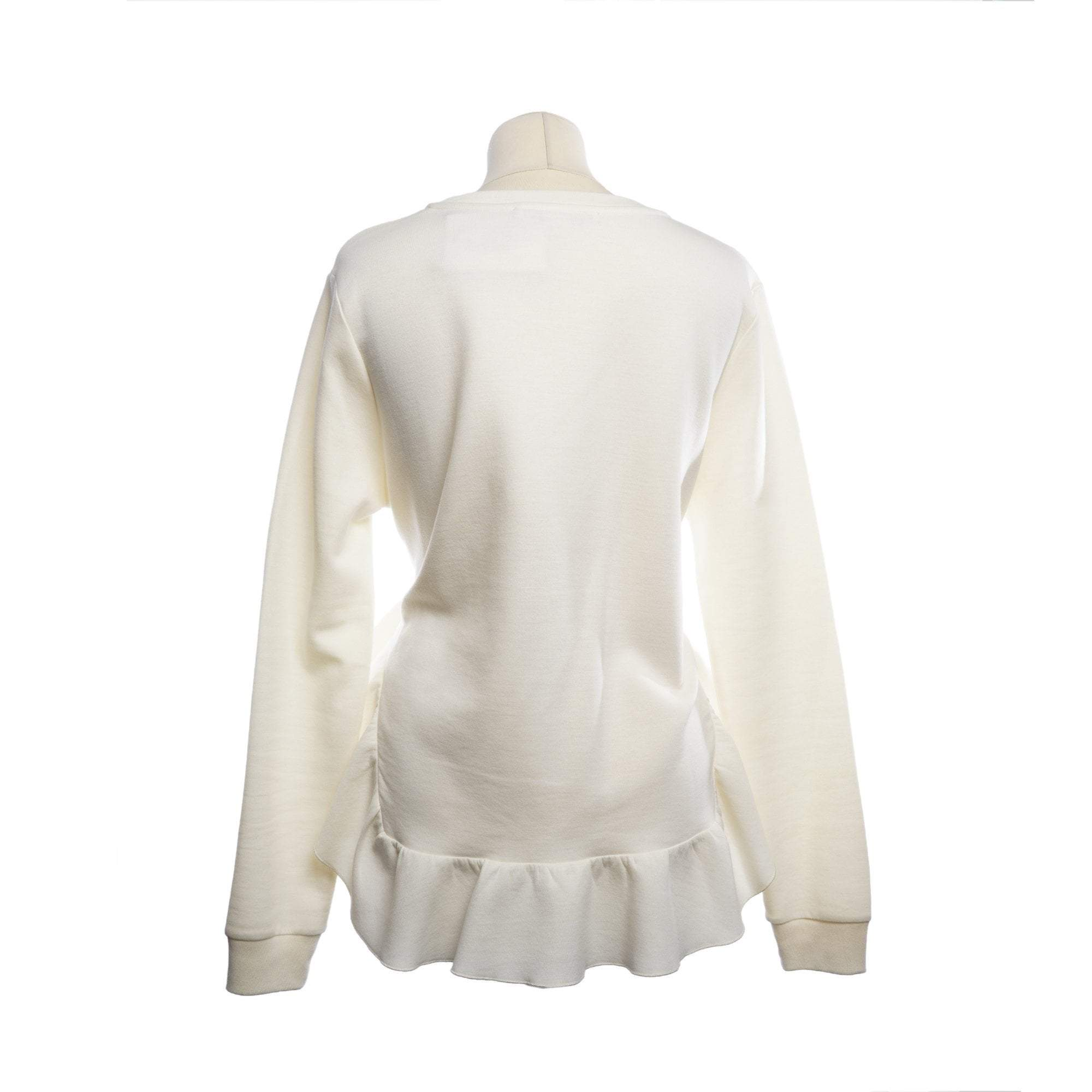 Stella McCartney Ruffle-Trimmed Ponte Sweatshirt