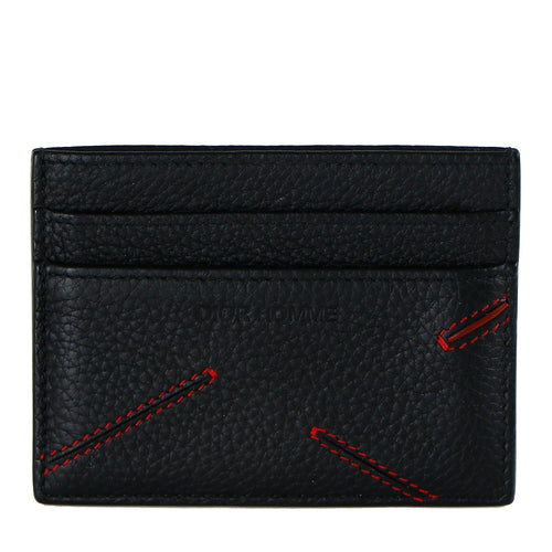 Dior Homme Men's Black Calfskin Card Holder