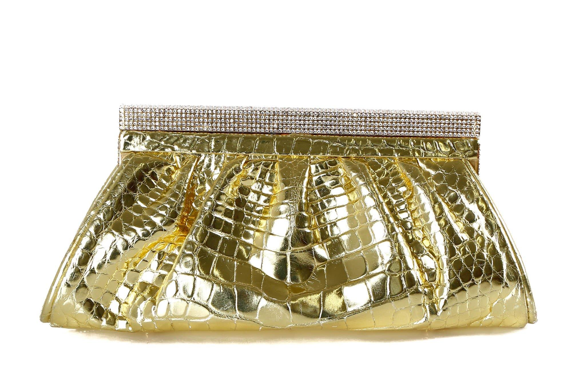 Lana Marks Crystal Embellished Crocodile Clutch