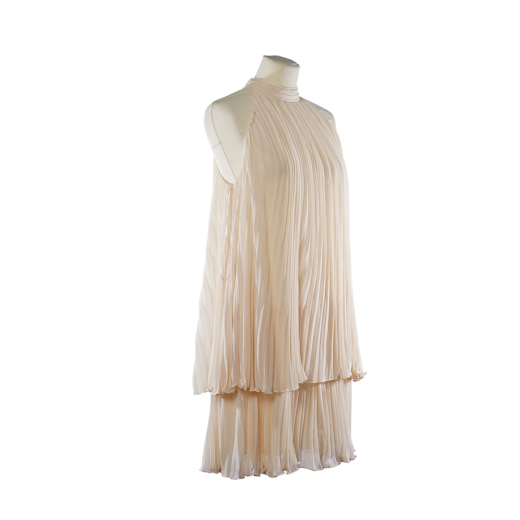 Joseph Beige Pleated Halterneck Top