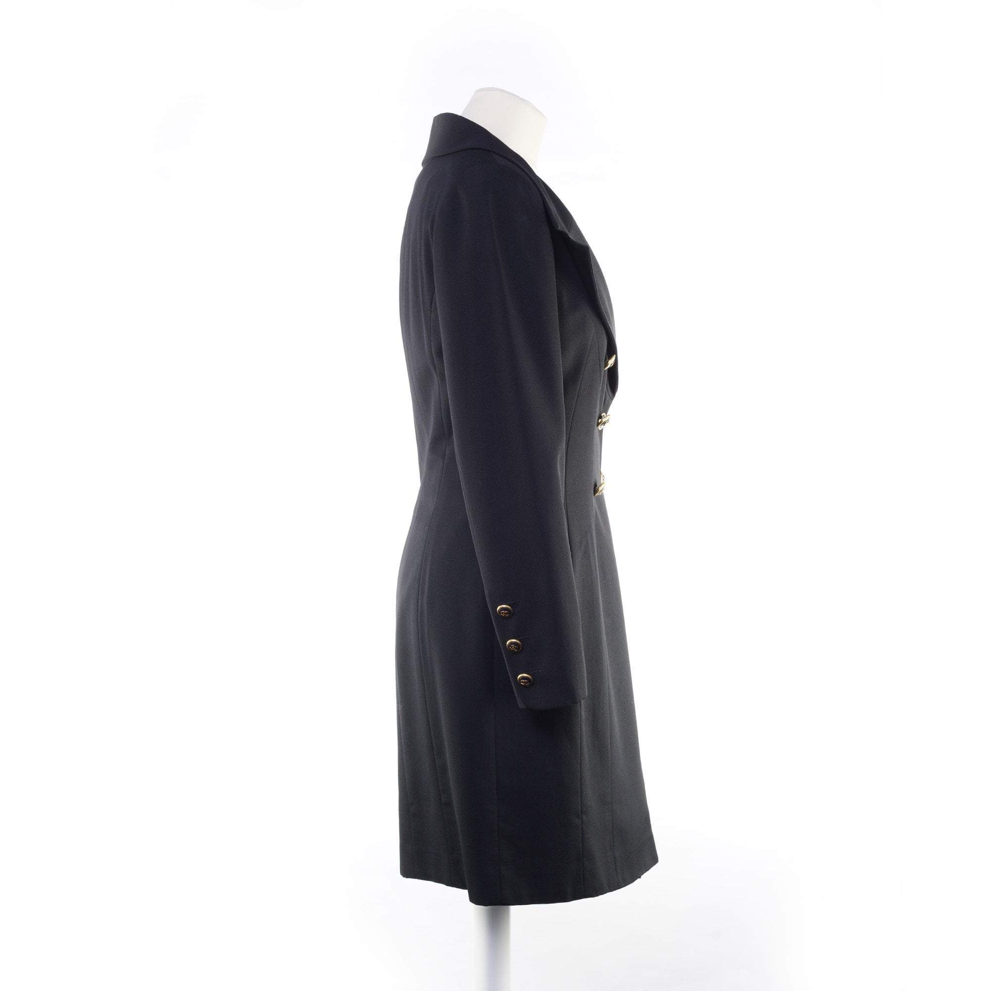 Chanel Vintage Long Black Jacket