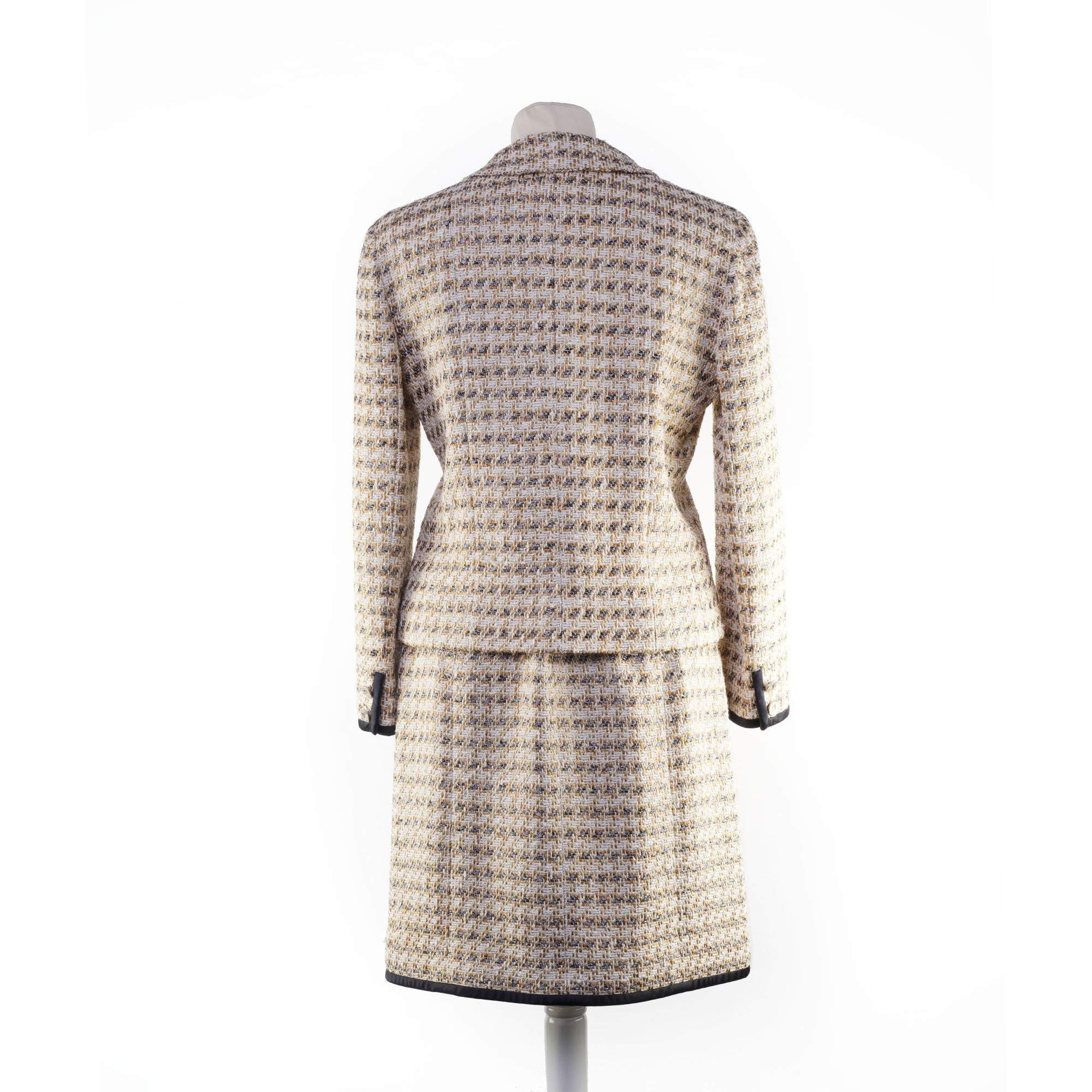 Chanel Beige and Gold Tweed Skirt (Skirt only)