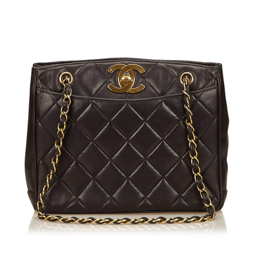 Vintage Quilted Lambskin Chain Shoulder Bag