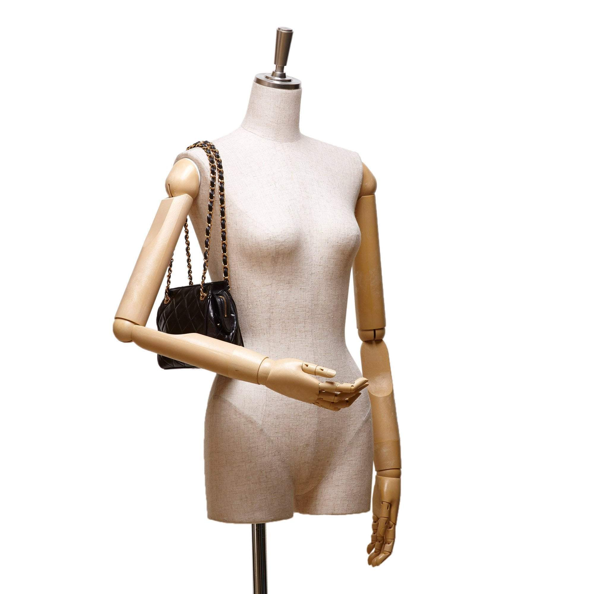 Vintage Lambskin Shoulder Bag