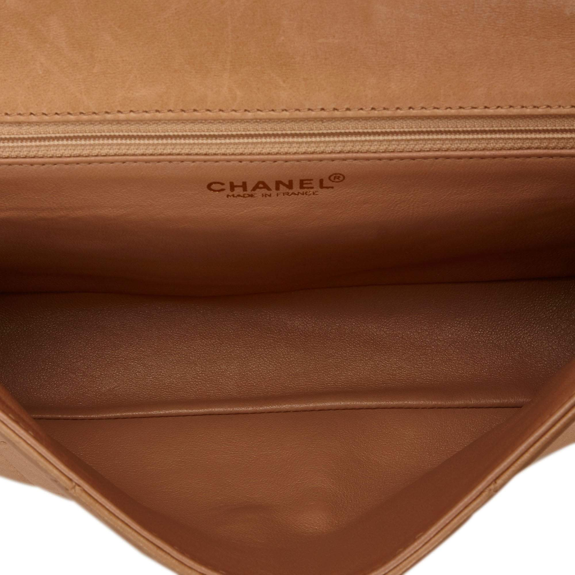 Vintage Chanel Medium Lambskin Leather Flap Bag